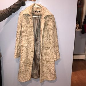 DKNY knitted pea coat